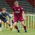 Callum Taylor was seriously injuredat the start of Welwyn Garden City's FA Cup game at Bromsgrove Sporting.