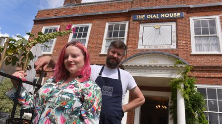 Hannah Springham and Andrew Jones at the Dial House, Reepham. Picture: Jamie Honeywood