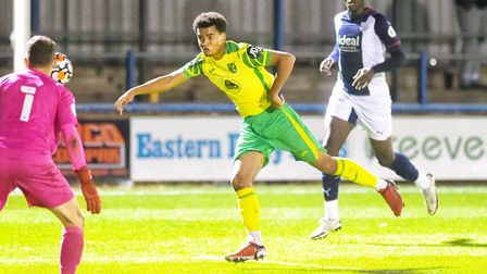Tom Dickson-Peters was on target for Norwich City's U23s in the Premier League 2 clash. Credit: Ian