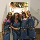Ruth Robinson, Fi Passey, Beth Bruce-Gardner and Tess Wardman pictured in front of the winning Chelsea Flower Show entry
