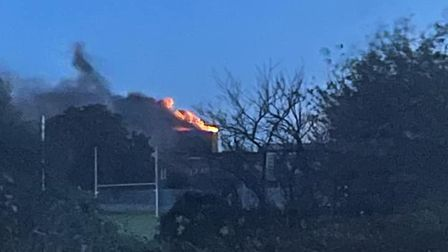 Firefighters have been called to a building fire in Lowestoft