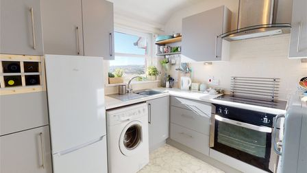 The recently fitted contemporary kitchen