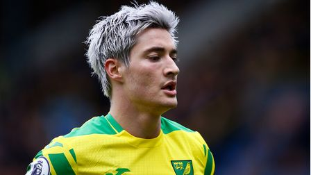 Mathias Normann of Norwich during the Premier League match at Turf Moor, BurnleyPicture by Paul Ch