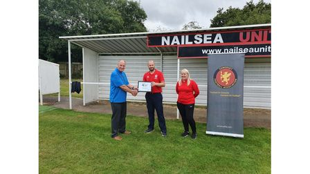 Nailsea United presented with Grounds Team of the Season 2019/20
