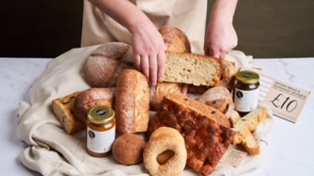 Bread, bagels and the baker's hands