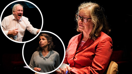 Rehearsal pictures for Company of Ten's production of Five Kinds of Silence atthe Abbey Theatre.