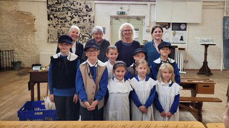 Hexton JMI pupils visited the British Schools Museum in Hitchin to experience school just as children did 175 years ago