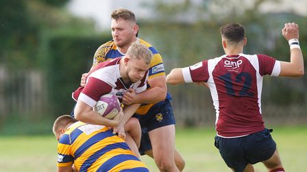 Josh Milton scored Welwyn's only try in their victory over Finchley.