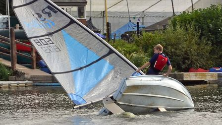 Welwyn Garden City Sailing Club's punchbowl race was fast and frenetic as usual.