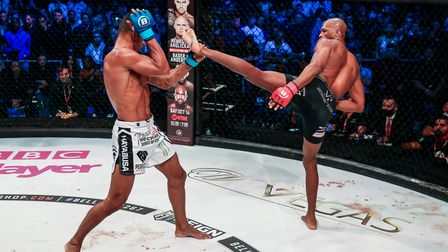 Michael Page in action against Douglas Lima at Wembley