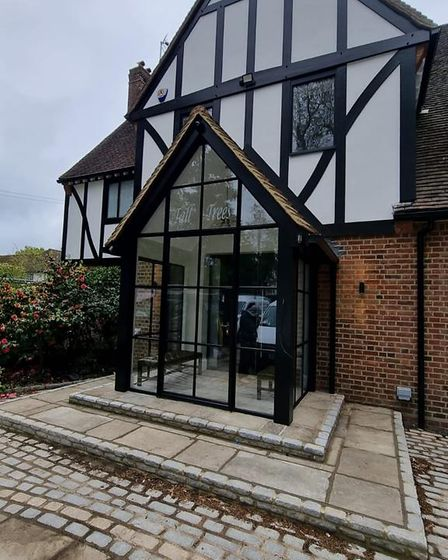 Crittall window installation of porch in a home by Metwin in Essex