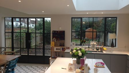 Slimline steel Crittall windows bring light in and remain sturdy and secure by Metwin in Essex.