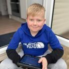 George Fox, 12, from Barton, was diagnosed with a brain tumour back in April