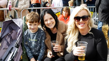 Old Town Live - Woody, 5, Amy and Susie enjoy the live music.Picture: Karyn Haddon