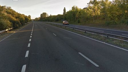 The B645 slip road to the A1 in St Neots is closed following serious collision with motorbike.
