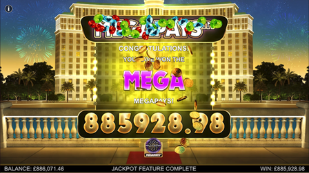 Big win of nearly a million on Betfairs Casino milionaire megapays game