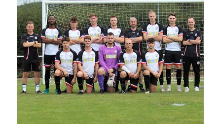 All smiles for Portishead Town as they pose for the camera.