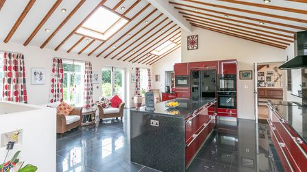 The kitchen has been given a modern new look