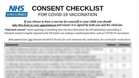 Copy of a COVID-19 vaccine hoax letter sent to schools