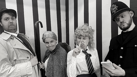 The Stevenage Lytton Players' production of Inspector Drake and the Black Widow