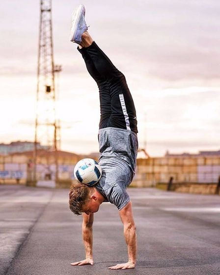 Football freestyler, Jamie Knight, will be entertaining the crowds with his amazing skills