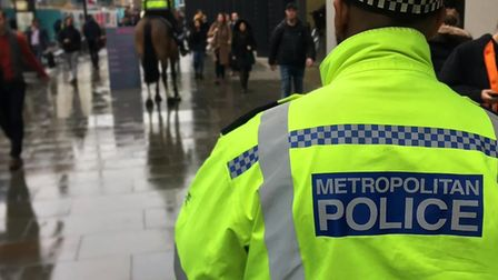 A stock image of a Metropolitan Police officer in London