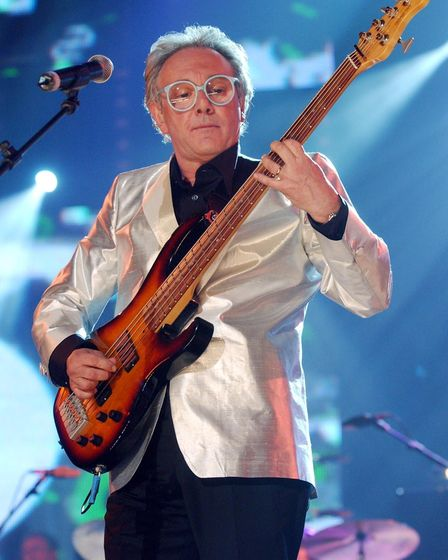 Music producer Trevor Horn performs during a charity concert, to celebrate the career of music produ