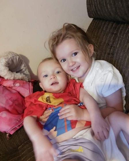 Atley-Grey and Lainey are both Kim's children.