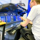 The Aero & Cat3C 737 Avionics Trainer, recently installed at Gloucester airport