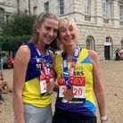 Mum and daughter team Keira and Lucy Stern of St Albans Athletics Club and St Albans Striders.