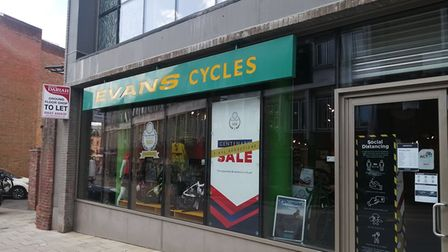 Evans Cycles has gone up for let in the city centre