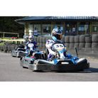 Charlotte Ozanne go-karting on the CastleCombe circuit.