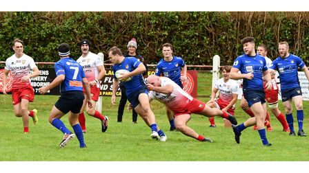 Action from Weston RFC's game at Camborne RFC.