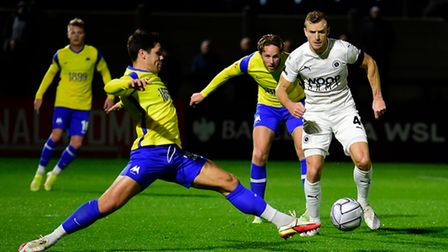 during the National League match between Boreham Wood and Torquay United at Meadow Park, Boreham wo
