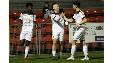 Lloyd Humphries scored his fourth goal of the season against Frome Town.