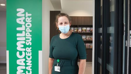 Wendy Marchant, a nurse at the new Macmillan centre