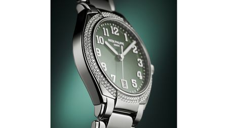 Olive and steel watch from Patek Philippe on sale at Laings Jewellers in Southampton