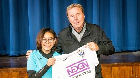 Harry Redknapp presented Stevenage Starlets U14s with their brand new kit, courtesy of Nexen Tyres