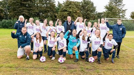 Stevenage Starlets U14s were thrilled by Harry Redknapp's visit, where he presented their new kit and gave a pre-match talk
