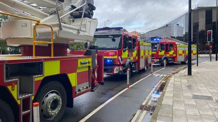 Fire crews have been sent to an office block in Ipswich
