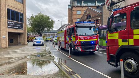 A dozen fire engines were called to the incident