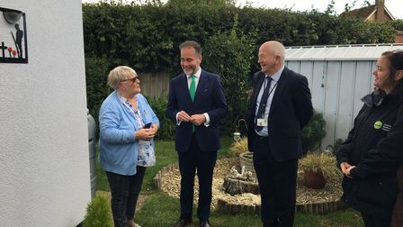 Housing minister Christopher Pincher MP met with residents of retirement homes in Lower Stondon