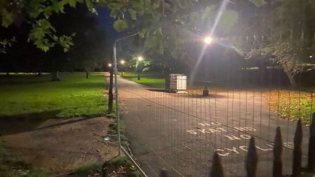 Gates are used to lock up Primrose Hill overnight at the weekends