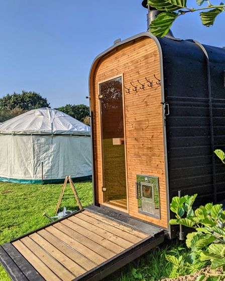 Tom Sutton's sauna box will be in attendance at the event.
