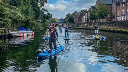 Norfolk Paddle Boards will be provided guided paddles along the river Wensum.