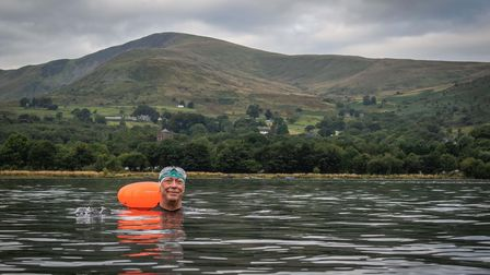 The keen swimmer's challengetook him across Wales'seas, rivers, lakes and reservoirs.