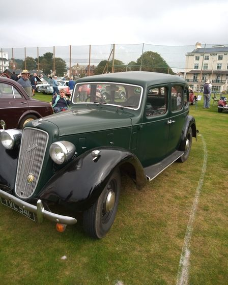 Classic cars on display at the show