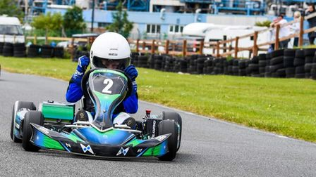 Cory Chapman, at first ever win at Hooton Park, Birkenhead, in round two of theTKZ 2021 Summer Championship.