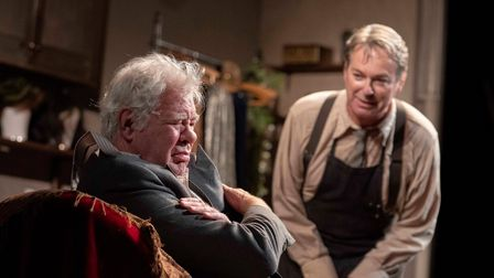 Matthew Kelly and Julian Clary in The Dresser, currently playing at Norwich Theatre Royal.