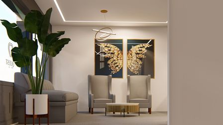 An interior view of how the new Quest Dental Care practice in Ipswich will look